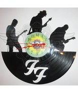 VINYL PLANET Wall Clock FOO FIGHTERS 2 Home Record Unique Decor upcycled... - $23.27
