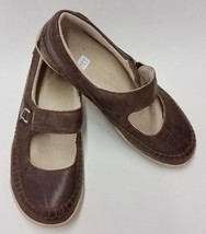 Timberland Shoes Flats Brown Leather Mary Janes Womens Size 5.5 US 36 EUR - $38.57