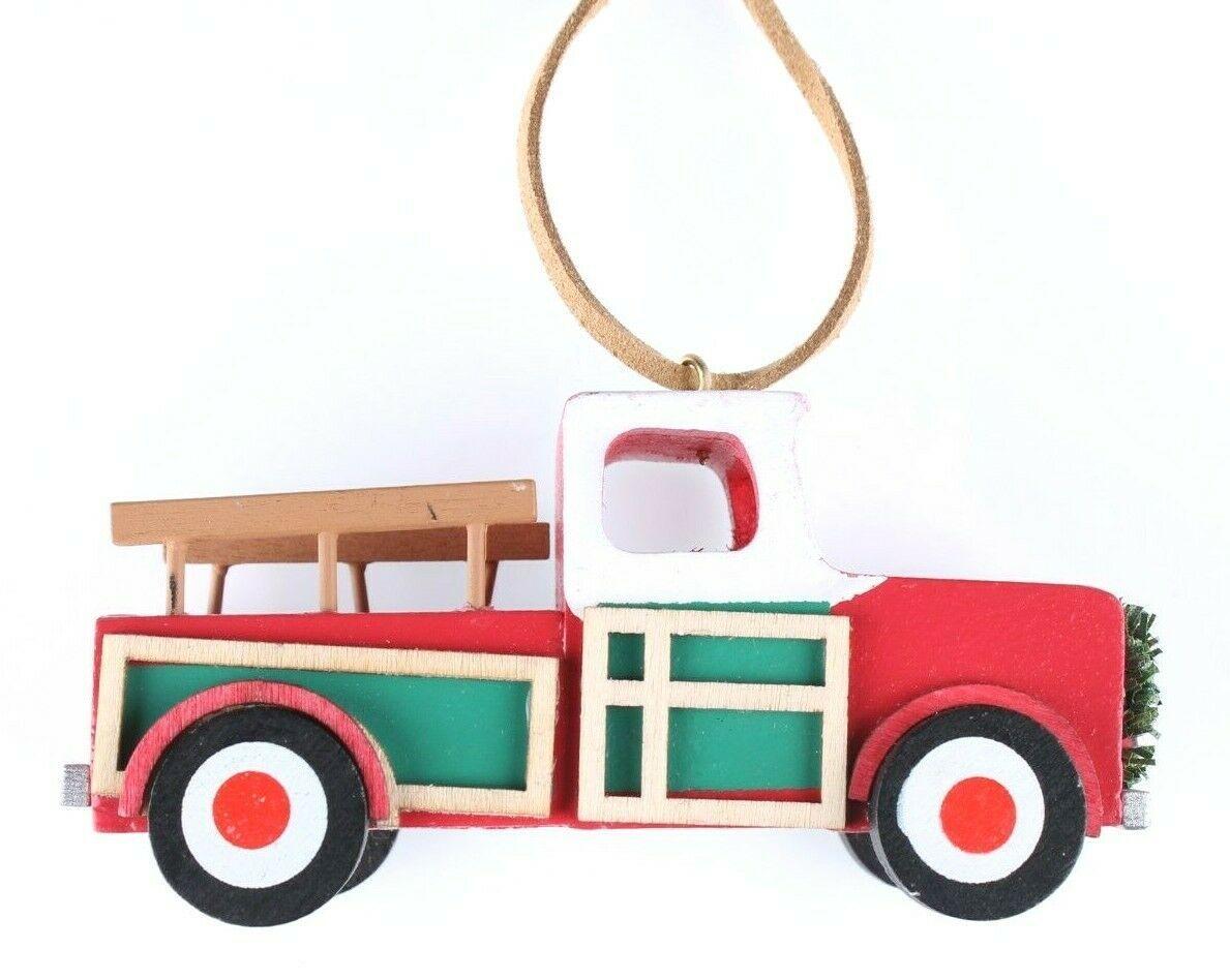 Wondershop Target Pickup Truck Wooden Christmas Ornament 2018 Wreath New w Tag