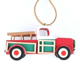 Wondershop Target Pickup Truck Wooden Christmas Ornament 2018 Wreath New w Tag