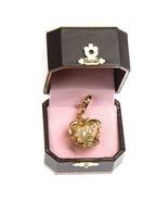 NIB JUICY COUTURE Crown Charm Tiara Gold Queen Royal Pearl Gold Rhinestones - $19.75