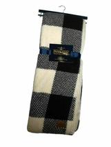 Pendleton Black Plaid Sherpa to Fleece reversible Blanket throw 50 x 70 nwt - $113.56