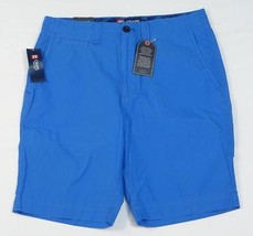 Chaps Flat Front Garment Dyed Blue Casual Shorts Mens NWT - $44.99