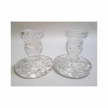 Waterford Crystal 1 pair low candlesticks - $52.69