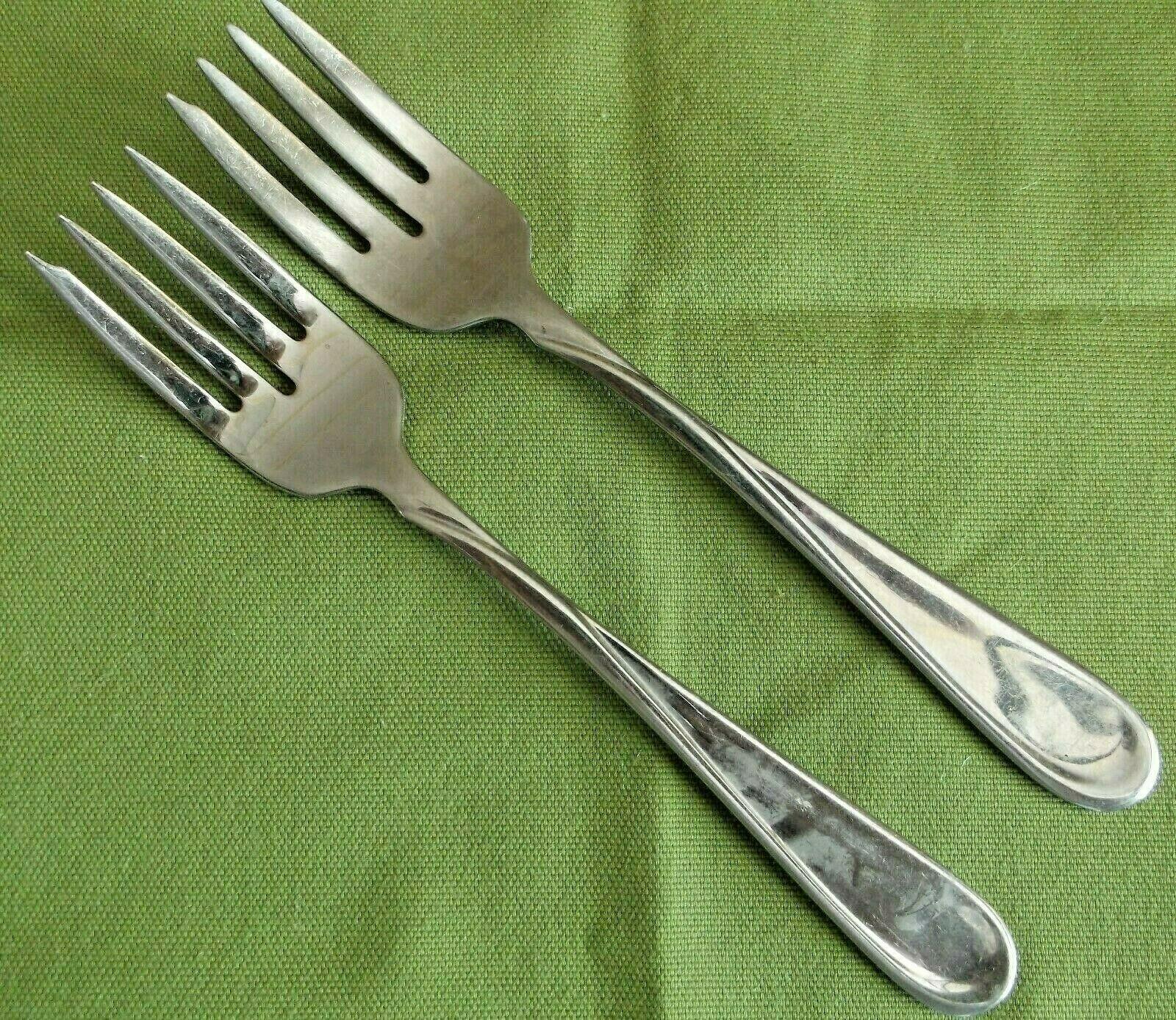 "8 Salad Forks Oneida Flight Reliance Glossy Flatware Stainless 6 3//4/"""