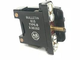 ALLEN-BRADLEY X-36182 OVERLOAD RELAY TYPE B, X36182