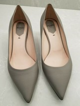 New Fendi Womens Gray Taupe Leather Shoes Low Heel Pointed Size 39-39.5 $690 - $299.00