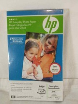HP Everyday Semi Gloss 4x6 6.5 mil Photo Paper 100 Sheet Package lot of 5 - $14.90