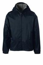 Lands' End Men's Fleece Lined Rain Jacket Classic Navy L NEW 458510 - $31.66