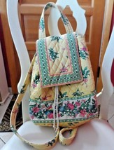 Vera Bradley old style backpack in retired Yellow Hope pattern - $26.50