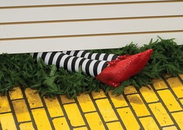 Wicked Witch Legs Prop Wizard of Oz 18 Inch Halloween Haunted House RU9166 - £31.35 GBP