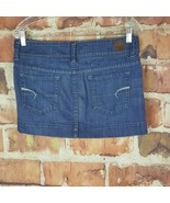 American Eagle Denim Skirt Womens Size 6 Mini Double Button  - $17.82