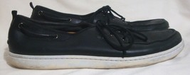 Timberland Leather Loafers Slip On Boat Shoes Black Lace Up Men Size 13 COMFY - $39.60