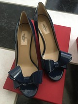 NIB 100% AUTH Valentino Couture Patent Leather Bow Pumps Shoes $745 - $498.00
