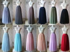 2020 FULL Long Tulle Skirt Plus Size Tulle Skirt Elastic Waist Lilac Tulle Skirt image 6