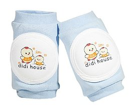 1 Pair Cartoon Crawling Baby Knee Pads Toddler Knee Pads Protector BLUE