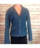 St. John's Bay Ladies Women's Blue Denim Jean Jacket Large EUC - $27.00