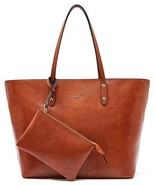BOYATU Women's Leather Purses and Handbags Shoulder Bags Large Work Tote... - $69.35