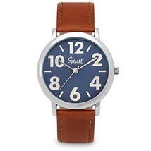 Speidel Men's Easy to Read Watch Featuring (Blue Dial / Brown Leather Band) - $74.05 CAD