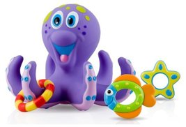 Nuby Octopus Hoopla Bathtime Fun Toys, Purple C... - $4.99