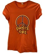 Reese's Pieces Out Peanut Butter Candy Orange Women's T-Shirt Size M - $12.86