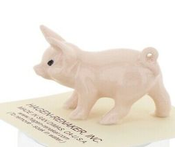 Hagen Renaker Miniature Farm Pig Pink Walking Ceramic Figurine image 3