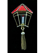 Rare Vintage Weiss Christmas Red Lantern Fringe Lucite Candle Pin  2 7/8... - $143.99
