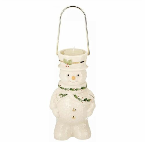 Lenox Holiday Happy Holly Days Snowman Lantern Votive Candle Holder - $10.69