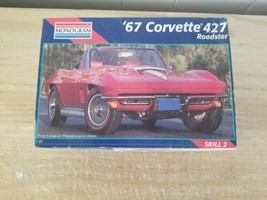 Monogram '67 corvette 427 Roadster 1/25 Model Car Kit 2968 -SOLD AS IS. - $11.29
