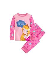 Disney store Princess Aurora Sleeping Beauty Pj Set Pink Girls 2PC sz  7 - $29.70