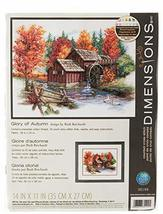 Dimensions 'Glory of Autumn' Seasonal Counted Cross Stitch Kit, 14 Count Ivory A - $14.99
