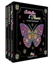 Adult Coloring Books Set – 3 Pack – Filled With Adult Coloring Books Flo... - $32.36