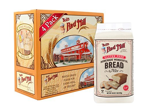 Bob's Red Mill Gluten Free Homemade Wonderful Bread Mix, 16-ounce Pack of 4