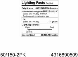 GE Soft White 3-Way 50/100/150 Watt A21 Light Bulb 6-Pack image 2