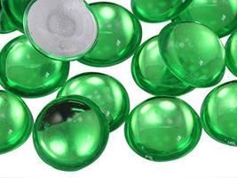KraftGenius Allstarco 11mm Green Peridot .PD2 Flat Back Acrylic Round Cabochons  - $5.24