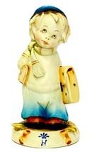 Vintage Porcelain Bisque Capodimonte G. Pezzato Figurine Boy Going To School - $34.91