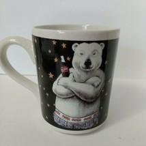 Coca Cola Polar Bear In Jeans Coffee Cup 1996 Coke Mug Gibson - $15.25
