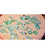 Sea Glass Two Pounds Frosted Green Machine Tumbled - $7.77
