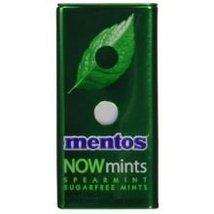 Mentos Now Mints Spearmint Sugarfree Mints, 1.09 Ounce - 144 per case. - $273.00