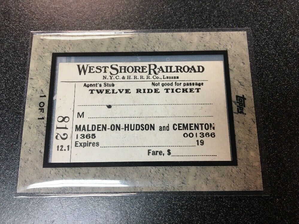 2009 TOPPS TICKET TO STARDOM WEST SHORE RAILROAD 1/1 B4
