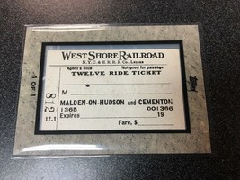 2009 TOPPS TICKET TO STARDOM WEST SHORE RAILROAD 1/1 B4 - $58.04
