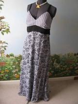 Essentials by Milano Women Black & White Long Dress Size 12  - $29.69