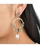 BAHYHAQ -  Vintage Alloy Bird Charm Earrings Metal Big Round Stud Earrings  - $4.33