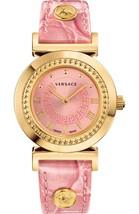 Versace P5Q80D111S111 Ladies Gold-Tone & Pink Vanity Watch - $2,586.31