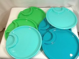 Pampered Chef Plastic Outdoor Plates 2823 Party Set Of 6 Multi Color - €6,91 EUR