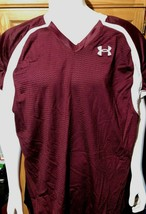 Under Armour UA Men's Adult Crusher Football Jersey Maroon 4XL - $9.89