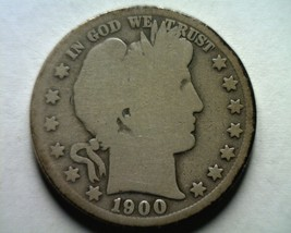 1900-S Barber Half Dollar About Good / Good AG/G Nice Original Coin Bobs Coins - $22.00