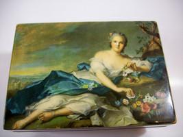 Wood Music Box Feet Reclining Lady Italy Reuge Mech Arrivederci Roma Estate - $26.68