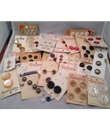 Bag of Vintage Buttons on Original Cards - $13.72