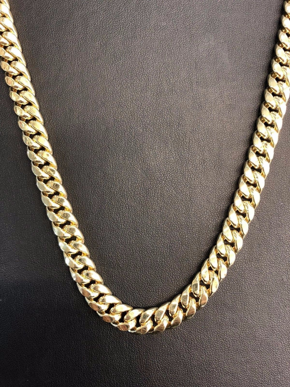 """10K Yellow Gold Hollow 6mm Miami Cuban Chain Necklace 24"""""""